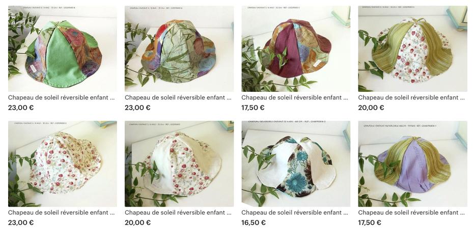 - Chapeaux de soleil enfants