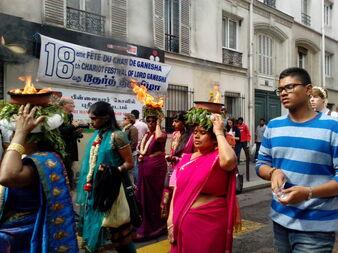 La fête de Ganesh dans le quartier de La Chapelle