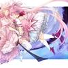 Konachan.com - 102998 2girls bow bow_(weapon) dress kaname_madoka long_hair mahou_shoujo_madoka_magi