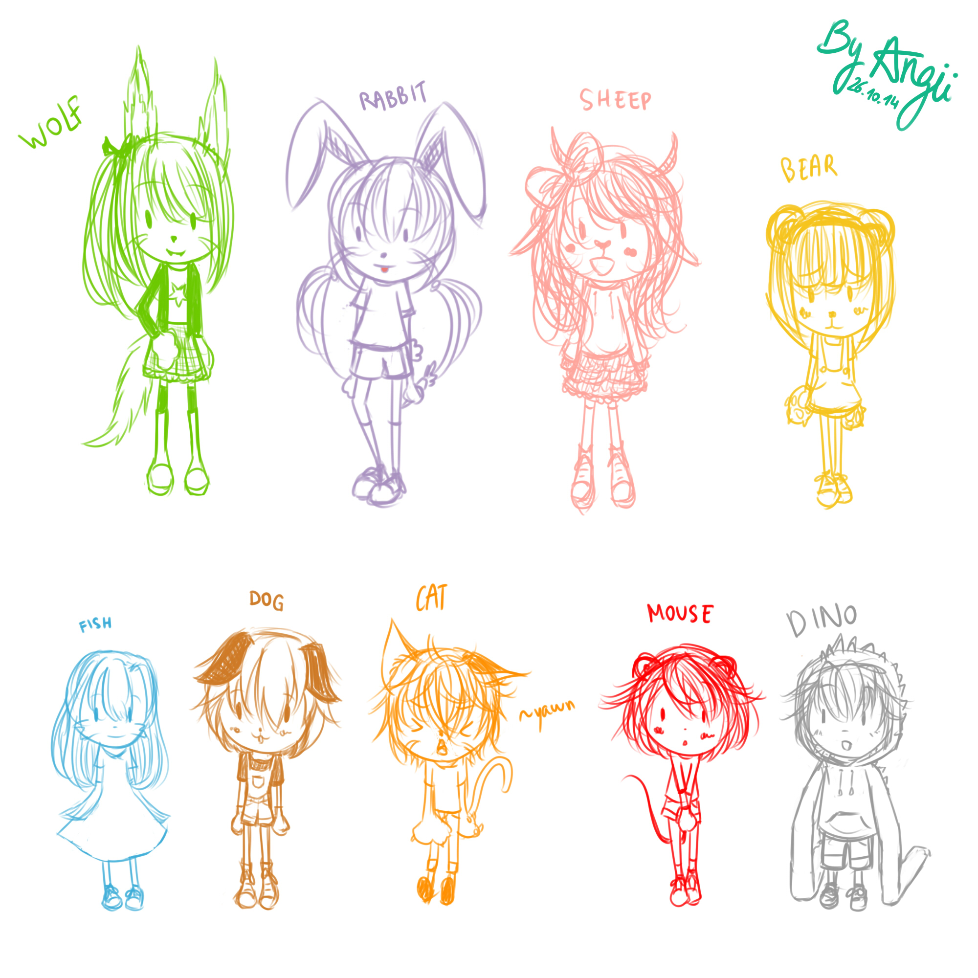 [SAI] 261014 Chibi animals !