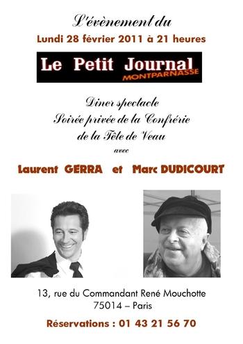 Affiche Petit Journal 28 Février 2011