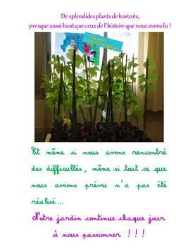Des nouvelles du projet jardin
