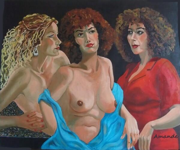 Vendredi - Peinture à l'huile, Trois femmes suite et fin