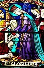 Sainte Clotilde assidue à l'aumône