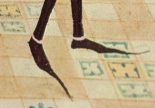 Detail d'un manuscrit du 15ème siècle de Renaud de Montauban.