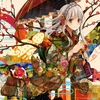 Konachan.com - 160648 brown_eyes japanese_clothes kimono original tomoyami umbrella white_hair