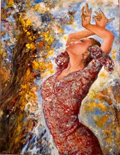 Gamboena, flamenca, art et miss, art au féminin, Paris, peinture