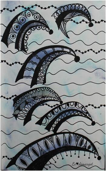 Doodle / Vagues noires