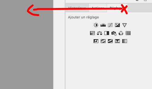 Photoshop: préférences et panneaux de droite