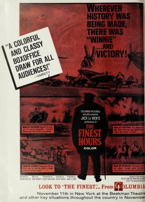 THE FINEST HOURS BOX OFFICE USA 1964