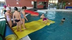 vers la fin des séances piscine
