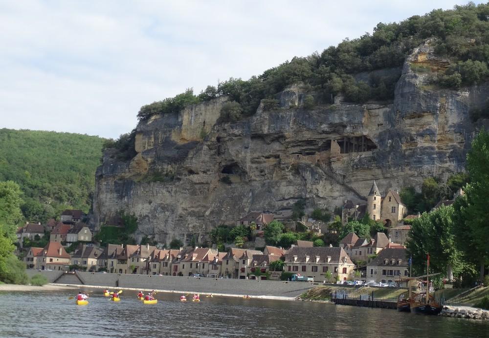 1 et 2)  Les gabarres   3 et 4) La Roque Gageac   5) Le château de La Roque Gageac   6) Castelnaud