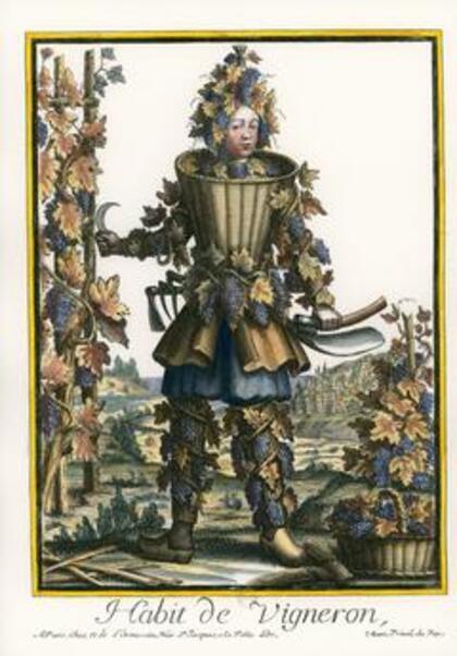 Costumes grotesques et métiers  en couleur  III