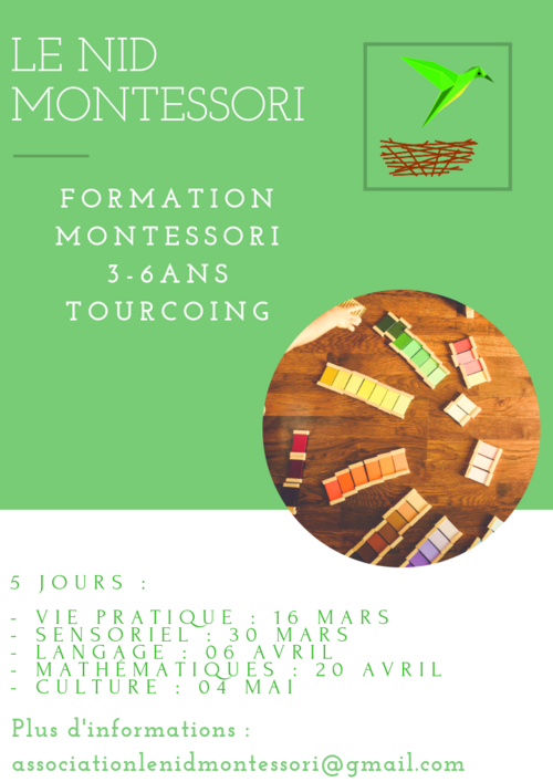 Formation Montessori 3/6 ans à Tourcoing (59)