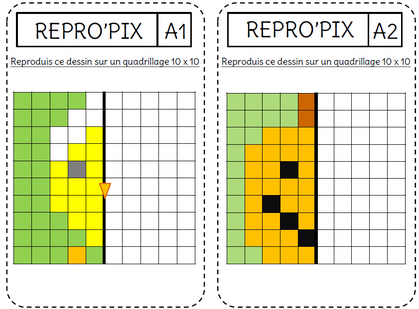 La symétrie par le Pixel'Art