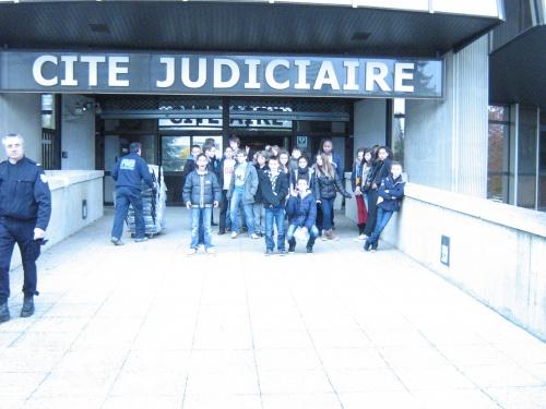 *Sortie au tribunal correctionnel le jeudi 15 novembre 2012