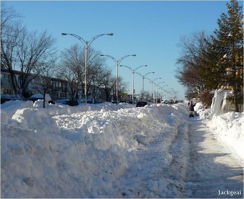 Montréal après une tempête de neige