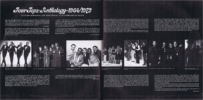 "The Four Tops : Album "" Four Tops Anthology 1964-1972 "" Tamla Motown Records TMSP 1124 [ UK ]"