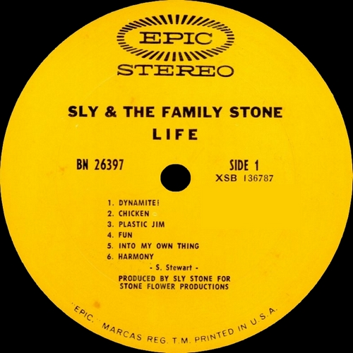 "Sly & The Family Stone : Album "" Life "" Epic Records BN 26397 [ US ]"