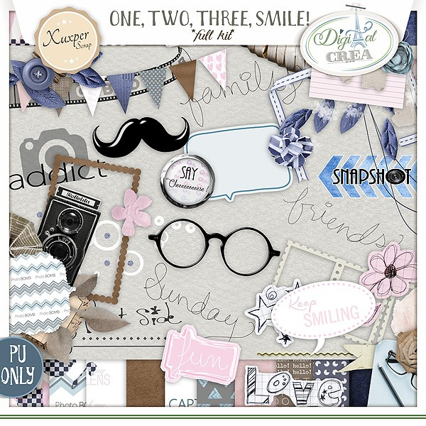 ONE, TWO,THREE SMILE!  by Xuxper Designs