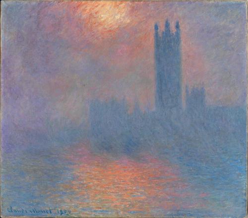 Impressionnisme : trouée de soleil dans le brouillard de Paris