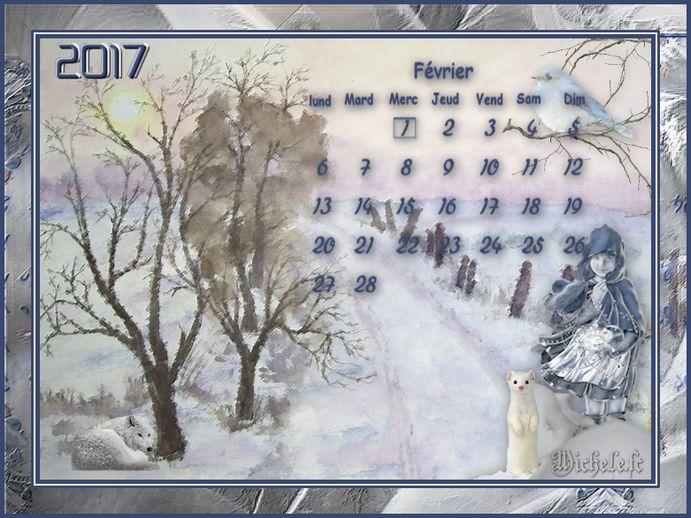 Calendrier Février 2017  Défi de Chez Sissi