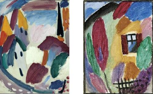 Jawlensky, deux tableaux de la série Variation, entre 1914 et 1917