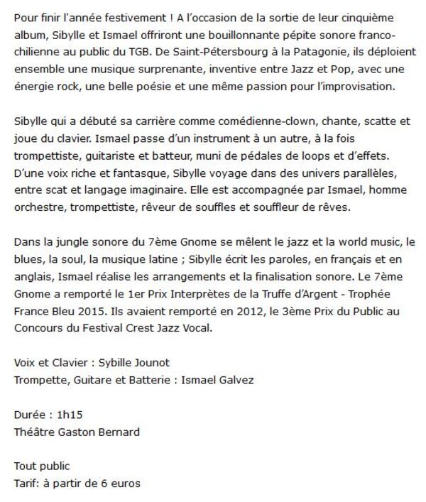 Ether Parallèle Au Théâtre Gaston Bernard Mercredi 20