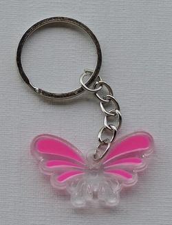 Porte-clés Papillon cristal
