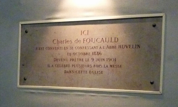 41 - Plaque conversion Charles de Foucaud