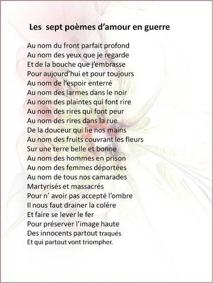 Les sept poèmes d'amour en guerre (1943)