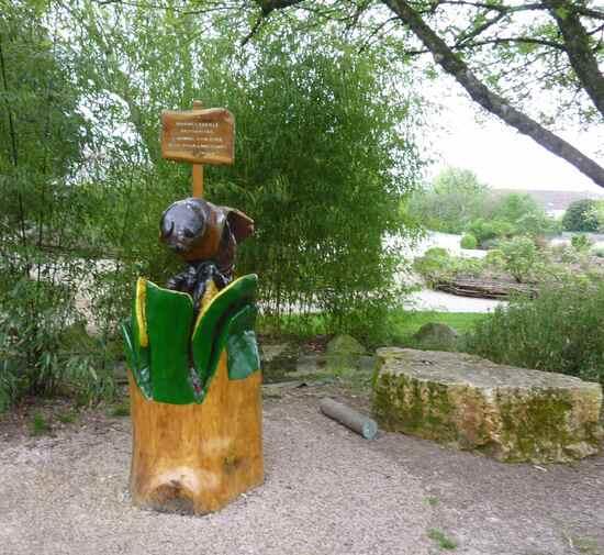 Hôtel à abeilles du jardin de Mornac.
