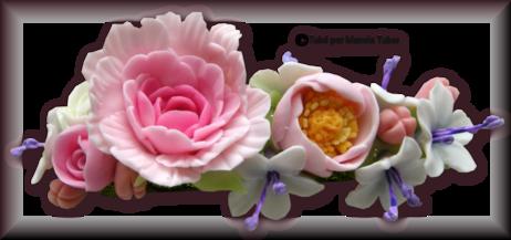 Tube fleur en porcelaine 2969