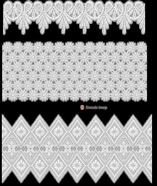 Bordures de dentelles blanche 2