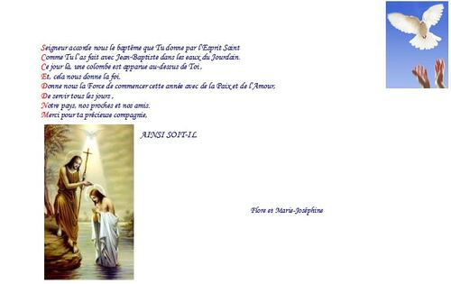 Prière du 18 janvier