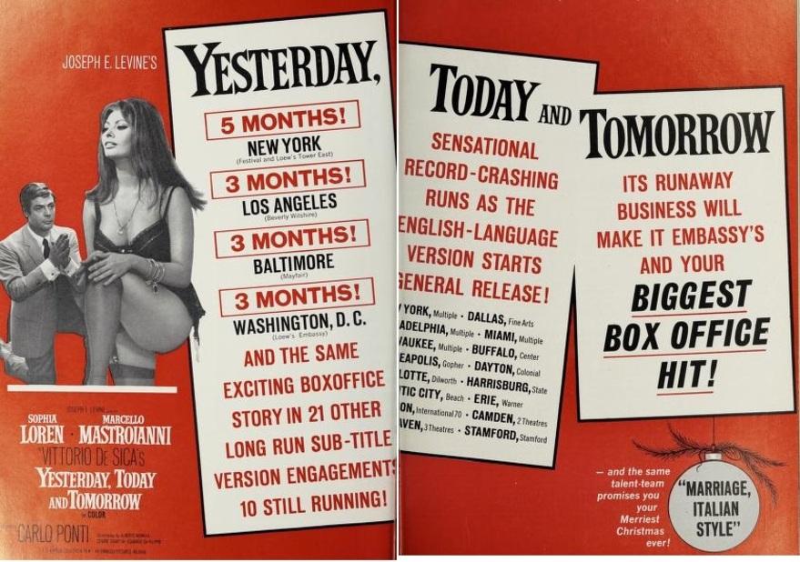 BOX OFFICE USA DU 16 MARS 1964 AU 22 MARS 1964