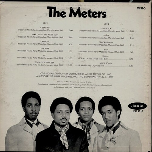 "The Meters : Album "" The Meters "" Josie Records JOS 4010 [ US ] en Juin 1969"