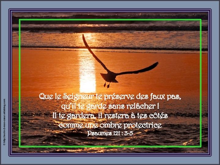 Il restera à tes côtés comme une ombre protectrice - Psaumes 121 : 3-5