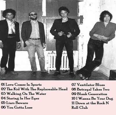 Le Choix des Lecteurs # 165 : Richard Hell & The Voidoids - 13 Octobre 1978 Phase III, Pittsburgh, PA