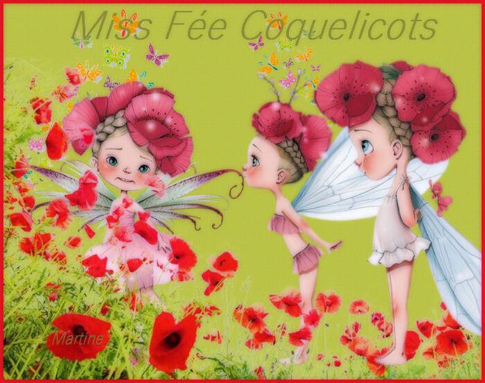 """Défi Nathie """"Miss Fée Coquelicots"""""""