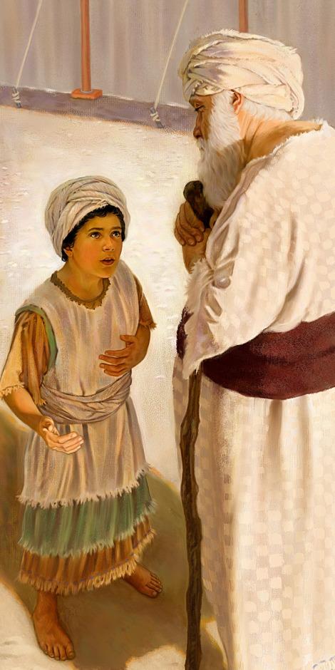 Le jeune Samuel parle au grand prêtre Éli