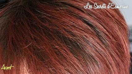 Lorsque mes cheveux se parent de Rouge Feu !