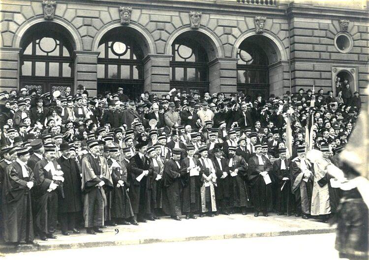 Les professeurs de droit de l'université de Strasbourg en 1919