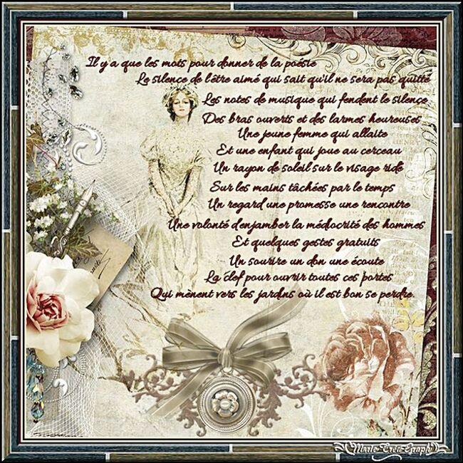Les mots de la poèsie