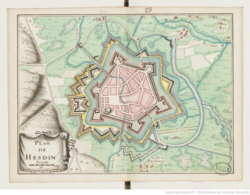 Trente-huit plans de places fortes - Hesdin (XVIIIe s)(gallica)