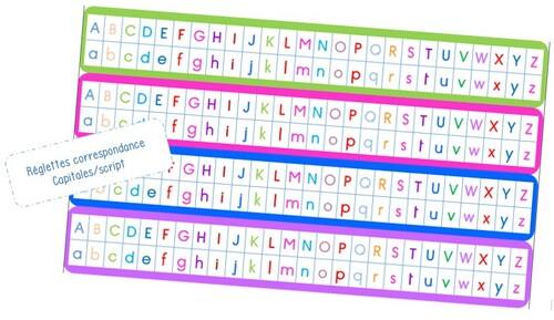 Réglettes capitale/script