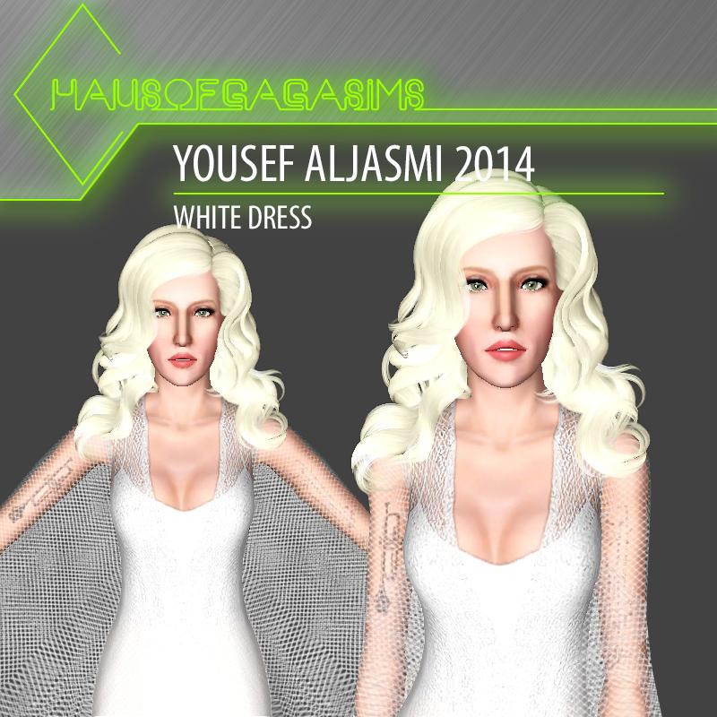 YOUSEF ALJASMI 2014 WHITE DRESS