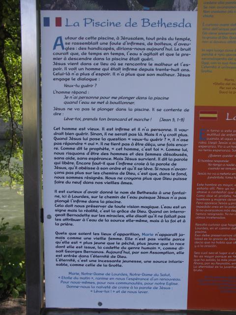 Lourdes : Le chemin de l'eau