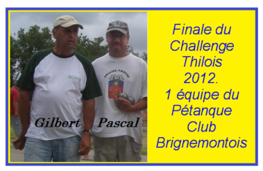 CHALLENGE THILOIS 2012 - 2013 - .