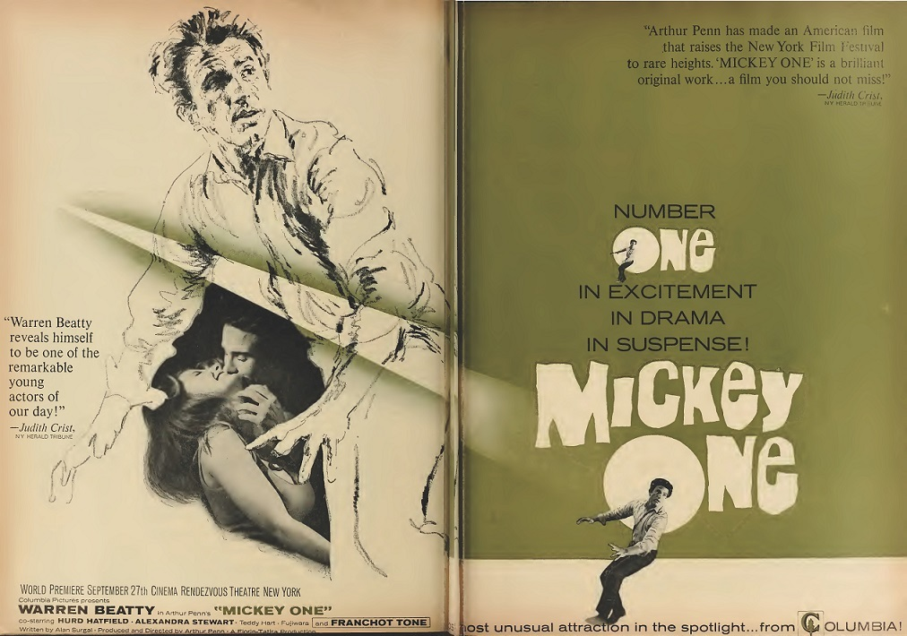 MICKEY ONE BOX OFFICE USA 1965